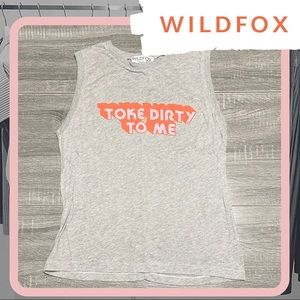 NWOT WILDFOX Toke Dirty to Me Vintage Muscle Tank